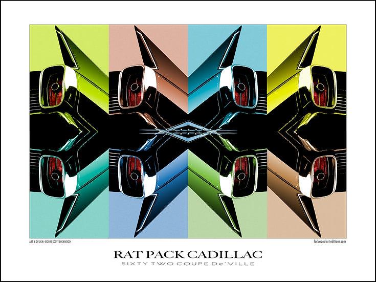 """RAT PACK CADILLAC No. 2 - 25"""" x 15"""""""