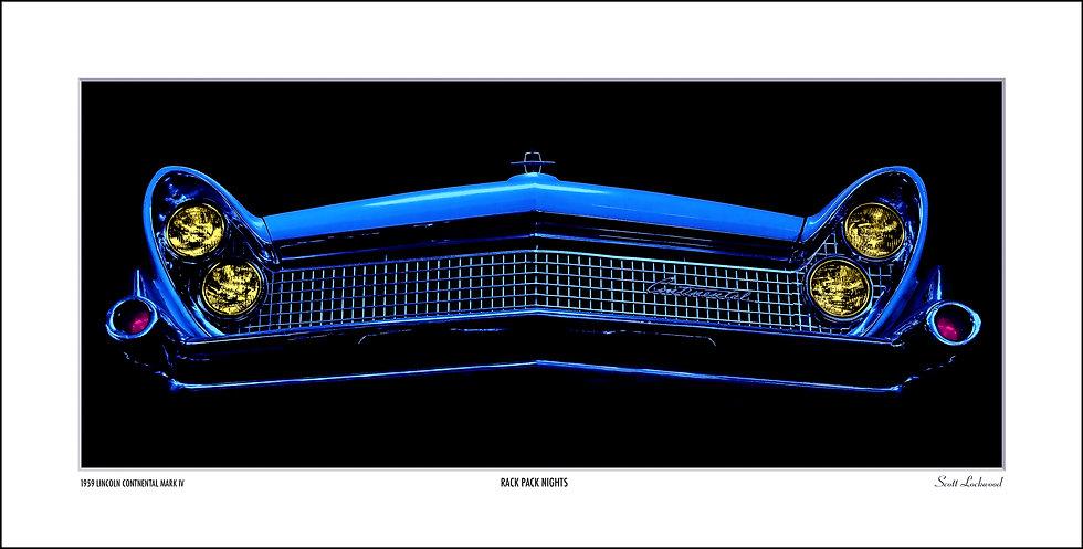 "BLUE CONTINENTAL AFTER DARK - 24"" x 12.5"""