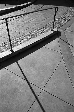 abstract street shadows and shapes no1 - b+w photograph by fine art photographer Scott Lockwood.