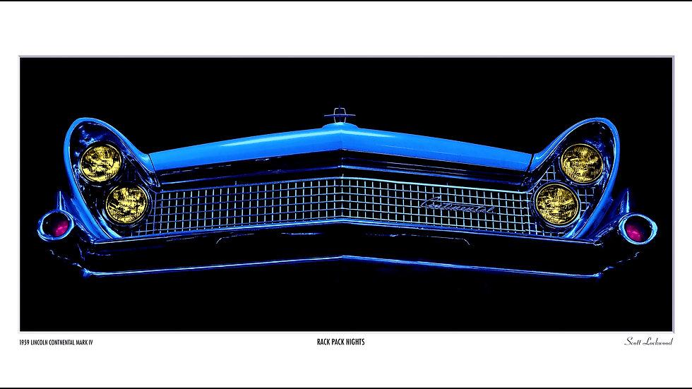 "BLUE CONTINENTAL AFTER DARK - 30"" x 15"""