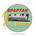 1946 Spartan Manor Greeting Card Art by designer Scott Lockwood - c.2013