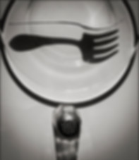 """FLOATING FORK SHADOW No.1 WITH SALT SHAKER""- Abstract, still-life photo by fine art photographer Scott Lockwood."