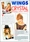 Wings T.V. Star Crystal Bernard for Sophisticates Hair magazine - Los Angeles c.1993