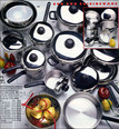 Product shot of pots & pans by photographer Scott Lockwood c.1977