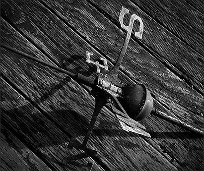 Weathervane - Dramatic, B&W photo by Bay Area fine art photogapher Scott Lockwood.