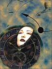 BEAUTY ELUDING TIME - Digital photo-illustration by fine art photographer Scott Lockwood.