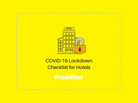 COVID-19 Lockdown Checklist for Hotels