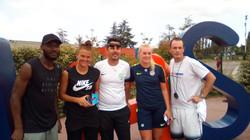 Joueurs et joueuses du Mhsc avec nos 2 coachs U11
