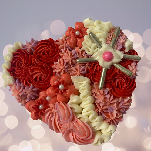 Large Buttercream Heart Cookie