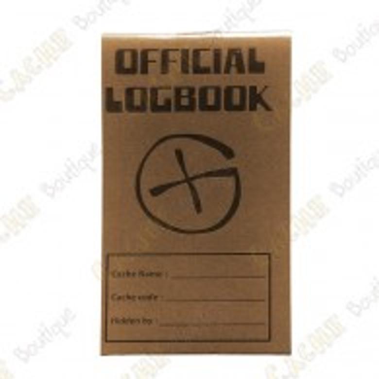 Logbook officiel brun 9x5 cm