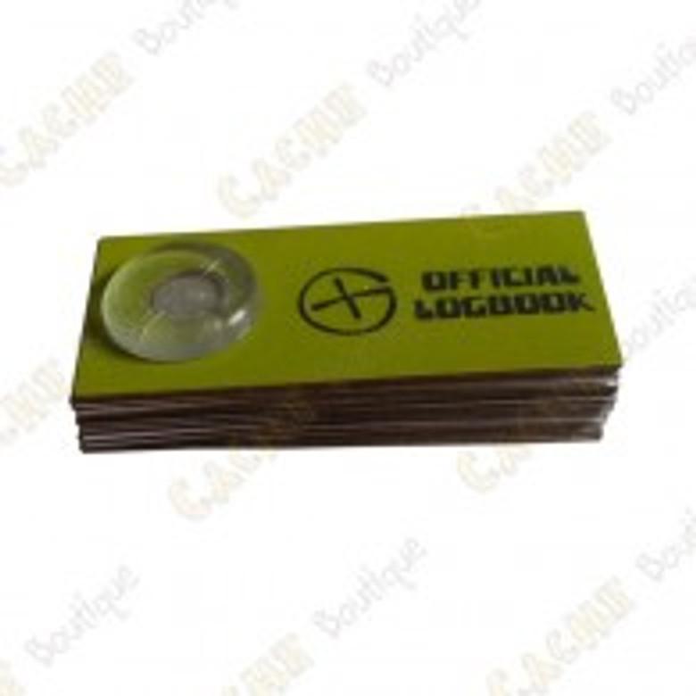 Logbook Officiel pour film canister 4x2 cm