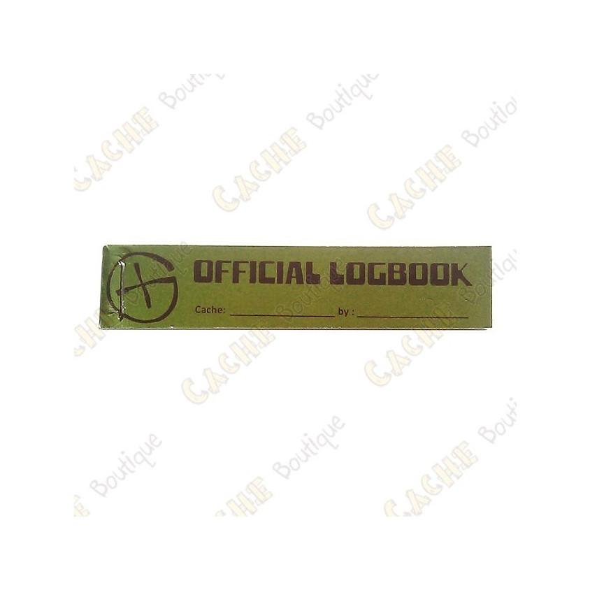 Logbook officiel PET Tube 9 x 2 cm