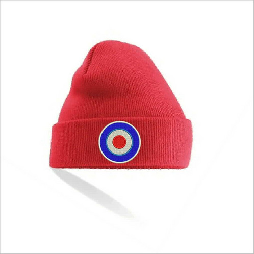 Lovely and warm Beanie with Mod Target embroidered pattern. 0b98b8d5937