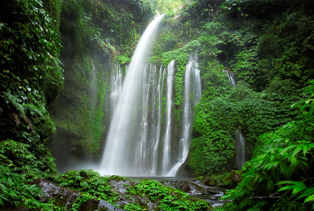 Tiu Kelep Waterfall, Rinjani National Park, Lombok (Indonesien)