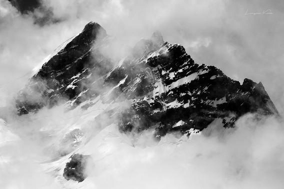 Wolkenstimmung um Jungfrau