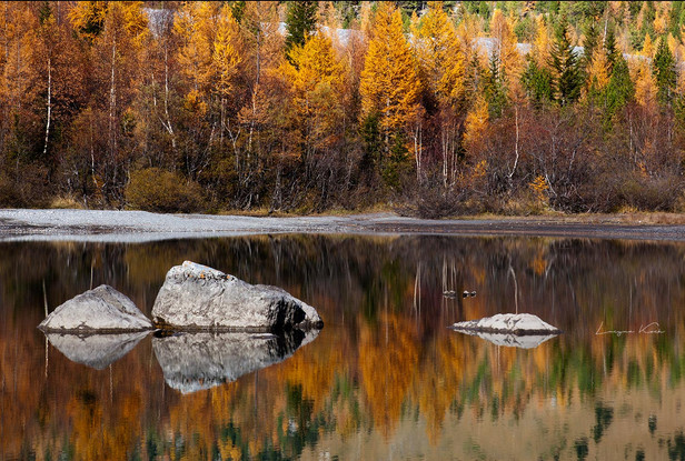 Lac de Derborence, Wallis (Schweiz)