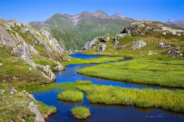 Moorlandschaft, Grimselgebiet, Berner Oberland (Schweiz)