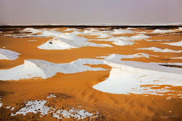 Typische Landschaft der Weißen Wüste