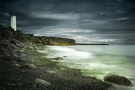 Leuchtturm Hellnar, Halbinsel Snæfellsnes (Island)