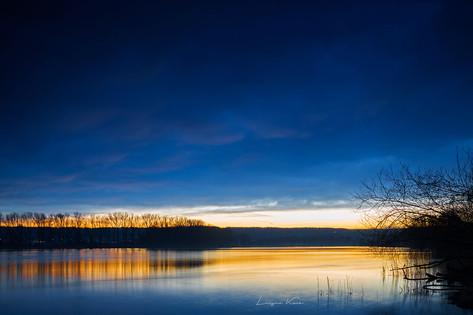 Tagesende im blau