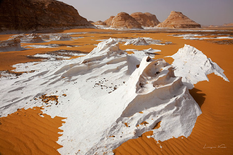 Sand und weissen Kalkstein