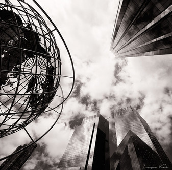 Globus auf der Columbus Circle