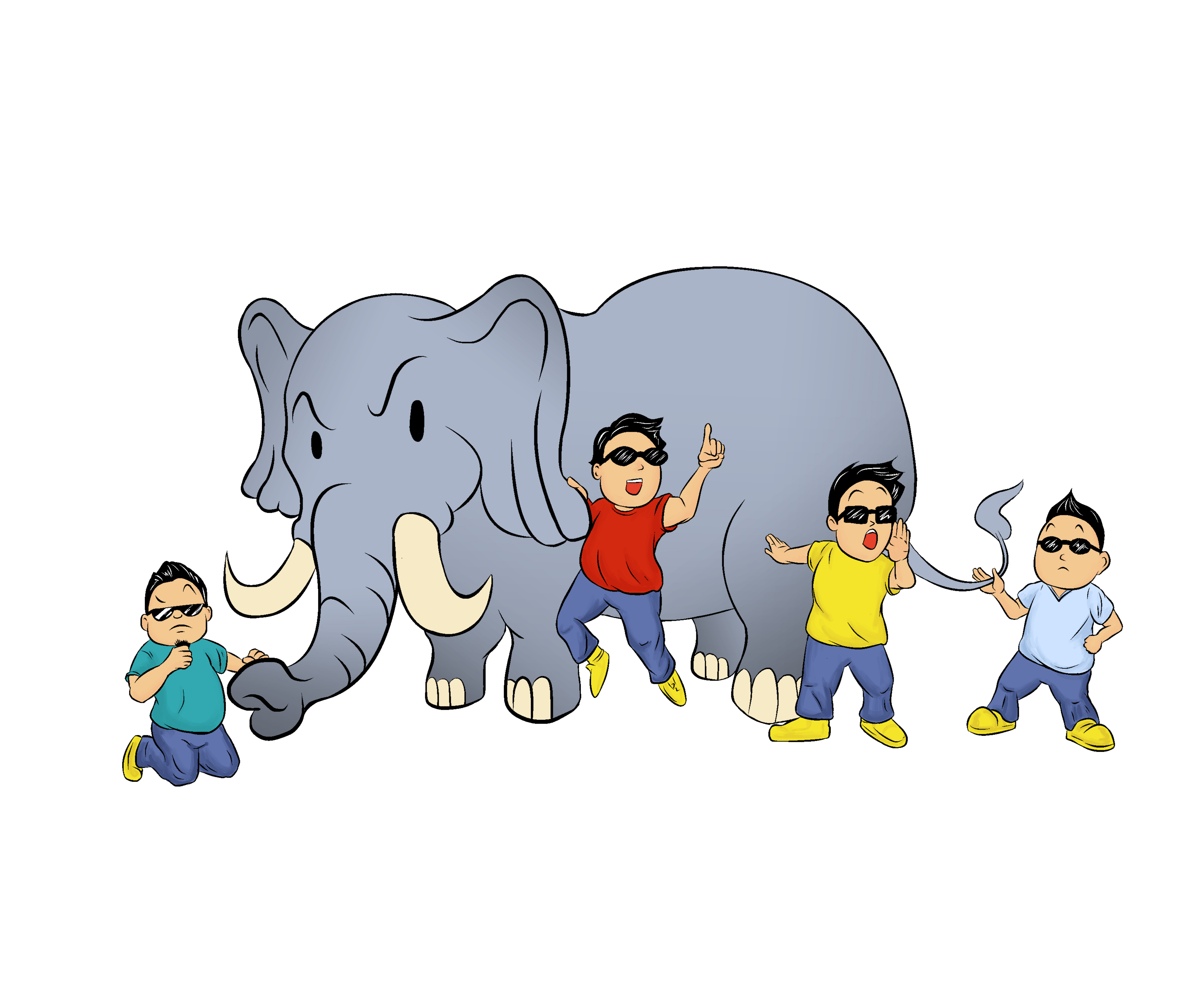 Elephant and Four Blind Men