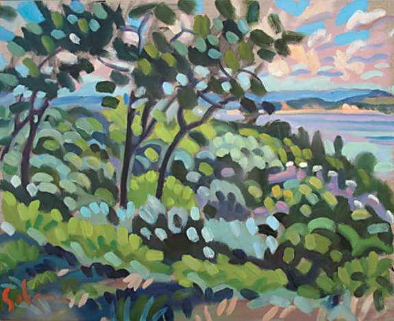 "Harbor Springs Bluff 30""x24"" $3,200"