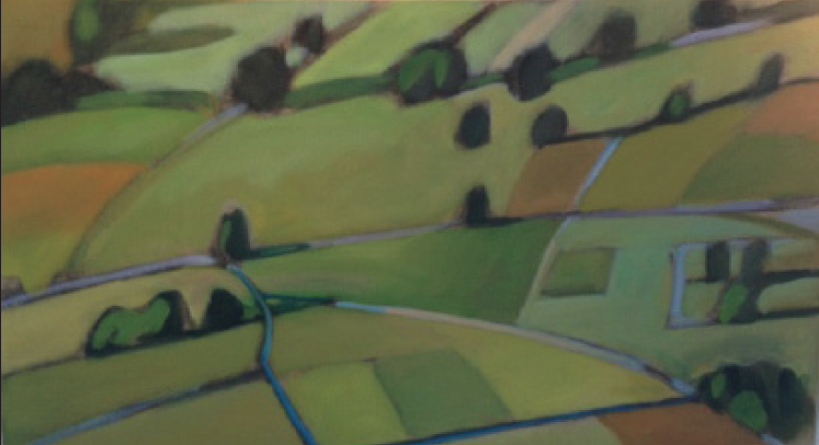 "Abstract Fields 24""x48"" $4,800"