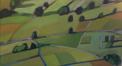"""Abstract Fields 24""""x48"""" $4,800"""