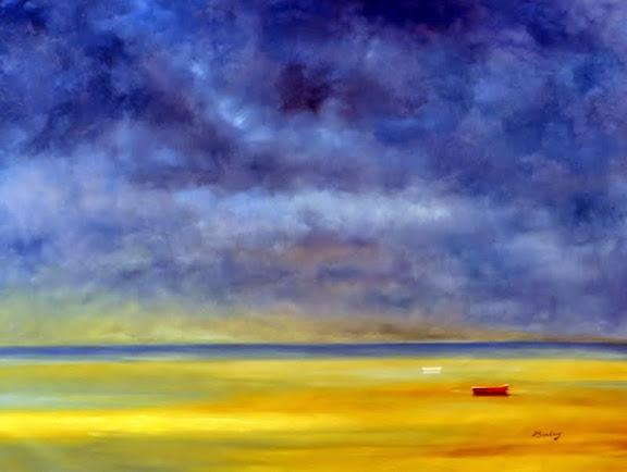 """""""Beach & Very Blue Sky"""" 36x48 $1895"""