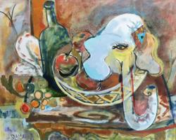 "Oil on Canvas, 32"" x 37"" $4,200"