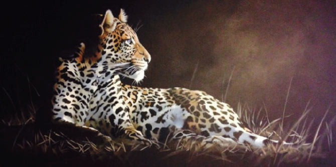 "Leopard 24""x48"" SOLD"