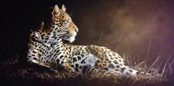 """Leopard 24""""x48"""" SOLD"""