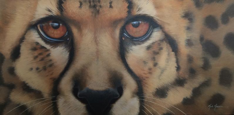 "Cheetah 24""x48"" SOLD"