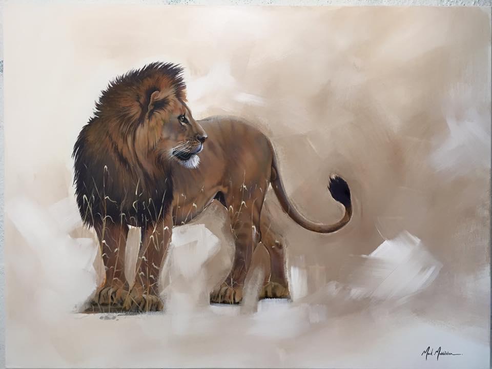 """Lion, 30""""x40"""" $6,800"""