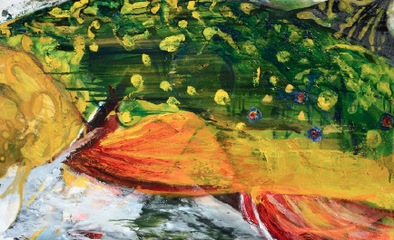 "Brook Trout Abstract 30""x48"" $4,300"
