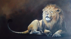 "Lion 30""x48"" SOLD"