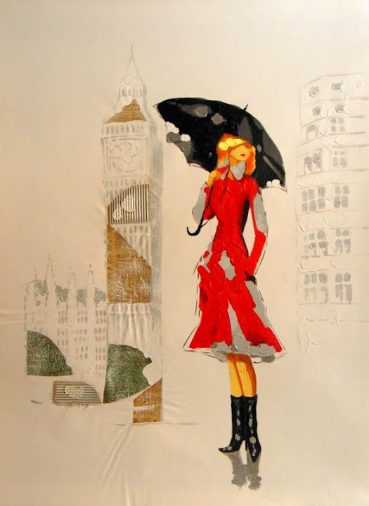 """Lady in Red"" 36"" x 48"", $2,495"