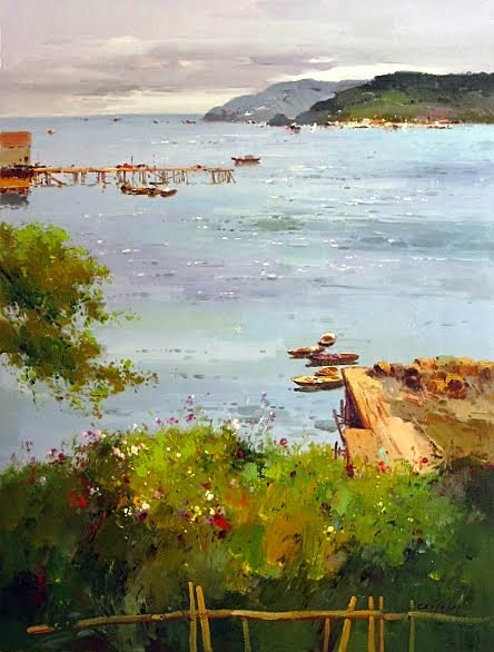 """Harbor Lookout"" 36"" x 48"", $2,995"