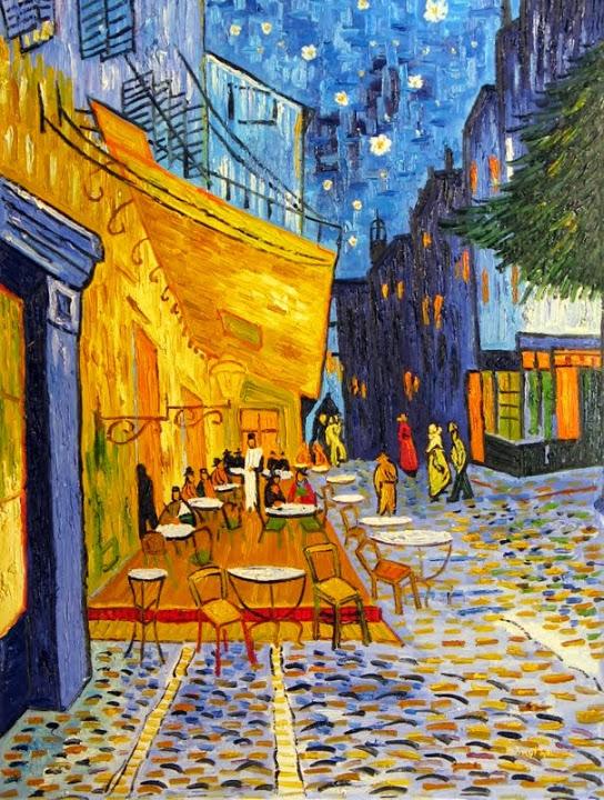 """Vivid Street Cafe"" 36"" x 48"" $2,495"