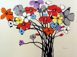 """Lively Bouquet"" 36"" x 48"", $2,495"