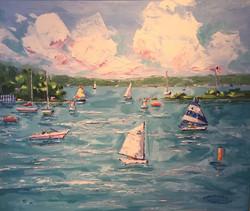 "On the Lake, 18"" x 24"" $2950"