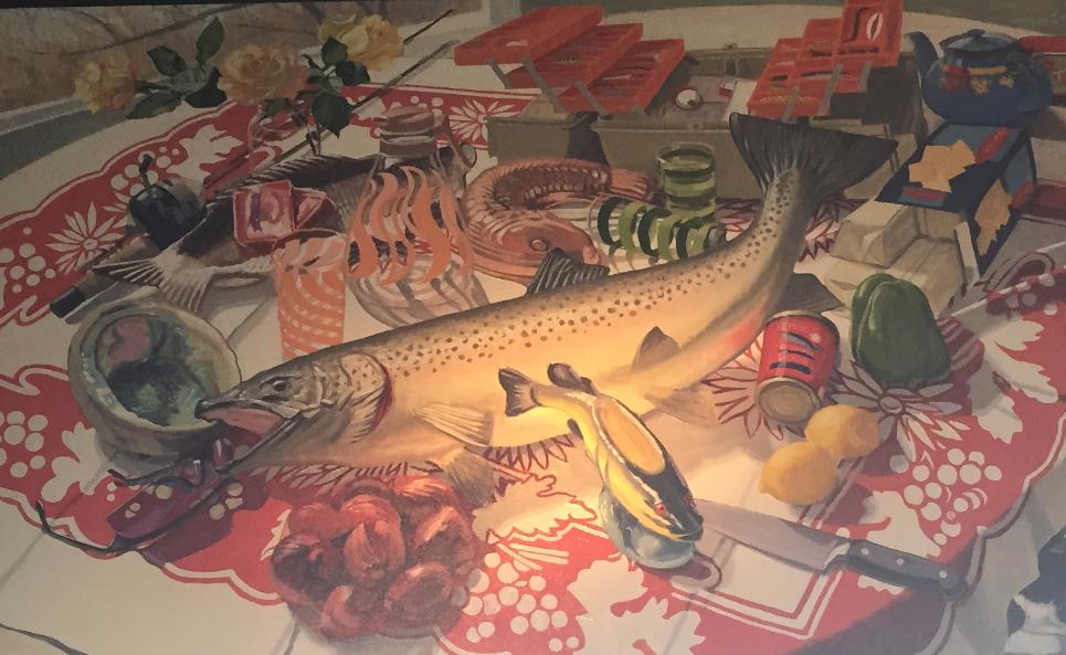 """""""Big Fish"""" 40""""x50"""" $5000"""