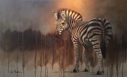 """Zebra, 30""""x48"""" $8,200"""