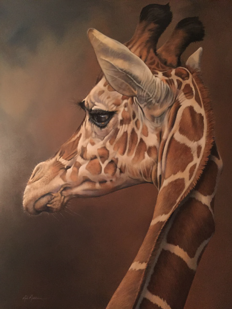 "Giraffe 48""x60"" $14,200"