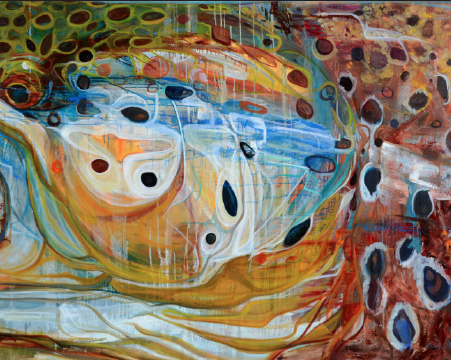 "Brown Trout 24""x30"" Giclee $400"