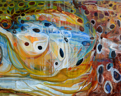 """Brown Trout 24""""x30"""" Giclee $400"""