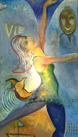 "Oil on Canvas, 35""x64"", $6,800"