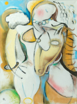 """Woman with Horse 36""""x48"""" $4,100"""